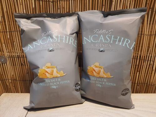 Lancashire Sea Salt & Cracked Black Pepper Crisps