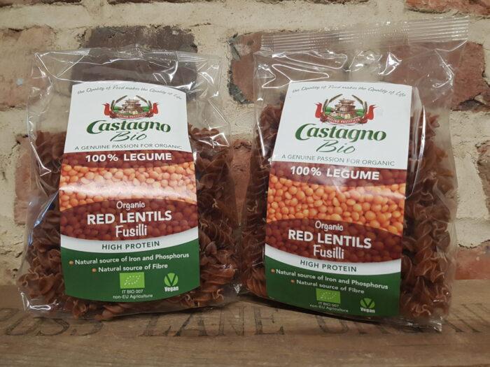 Castagno Organic Red Lentil Fusilli